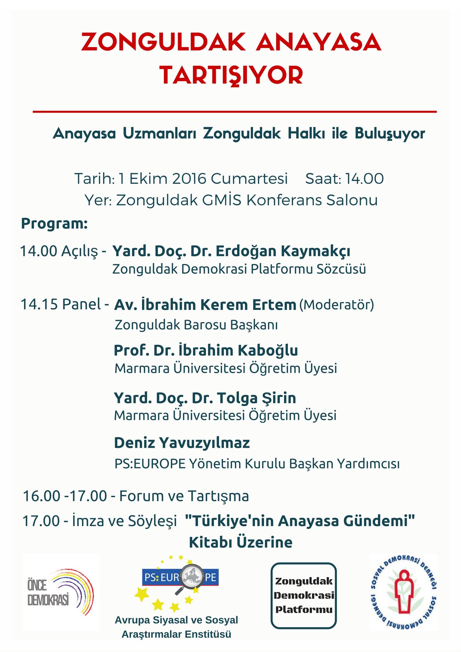 Zonguldak Anayasa Tartışıyor